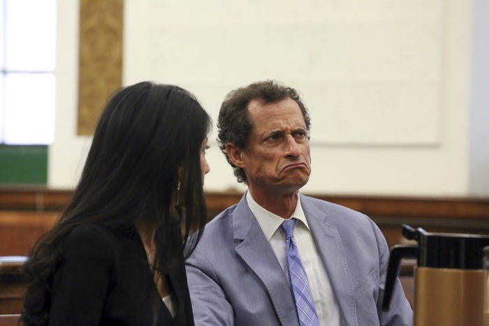 Anthony Weiner and Huma Abedin in court in New York on Sept. 13 for divorce proceedings.