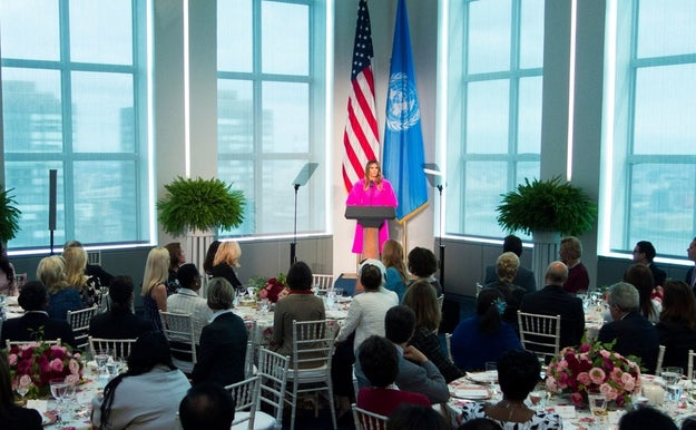 First lady Melania Trump on Wednesday addressed a crowd of other world leaders' spouses in New York as part of the General Assembly of the United Nations.