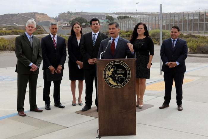 California Attorney General Xavier Becerra announced a lawsuit against the border wall at the U.S. Mexico border.