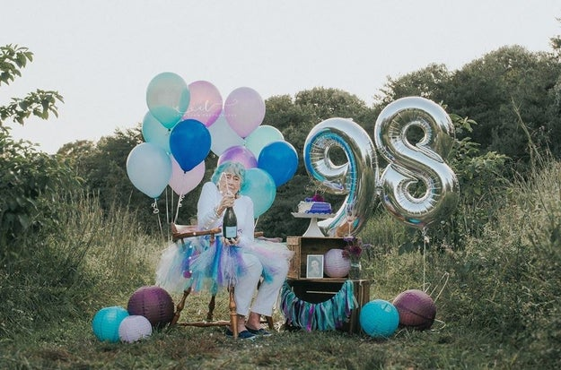"This year, in anticipation for Grams' 98th birthday, Shannon planned an incredible photo shoot. ""I thought it would be a really cute idea to do with my Grams,"" Shannon said."