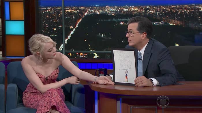 9-Year-Old Emma Stone Drew The Most Relatable Picture Of ...