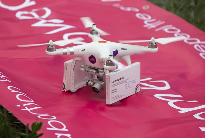 Abortion rights activists deliver abortion pills using a drone.