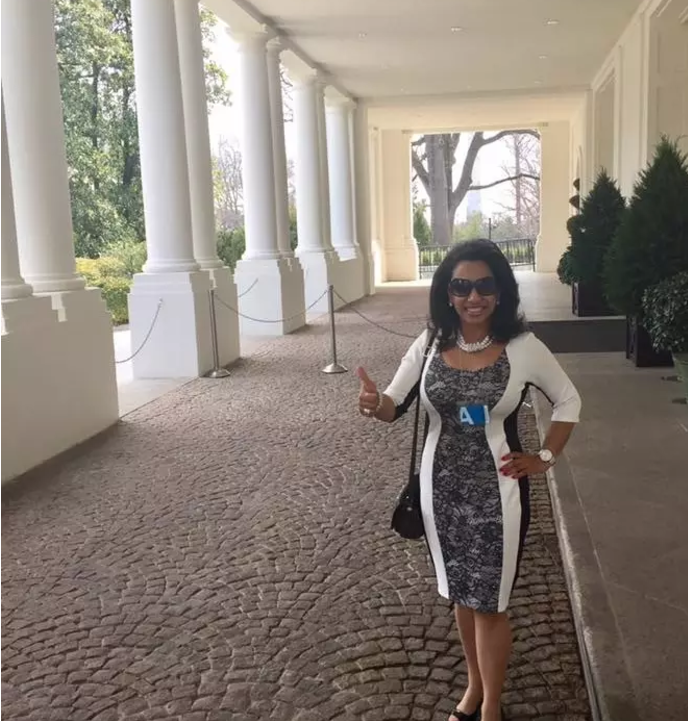 ACT for America's founder, Brigitte Gabriel, at the White House.