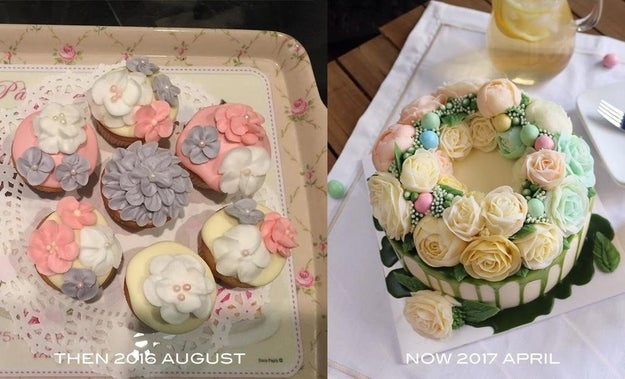 Maybe your cake-making skills have improved massively.