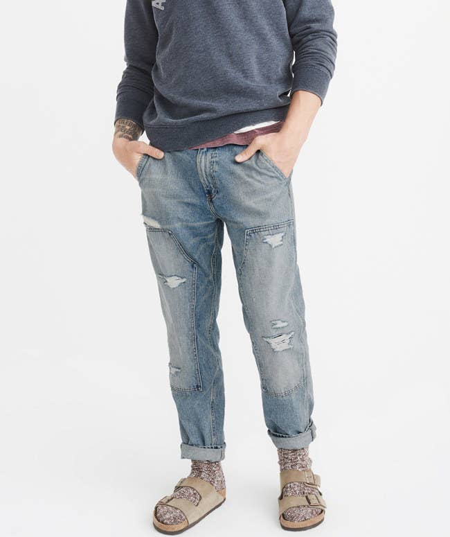 b05a5372d1 Abercrombie & Fitch has some seriously sharp denim options, including  bootcut and athletic-slim styles you're sure to be obsessed with.