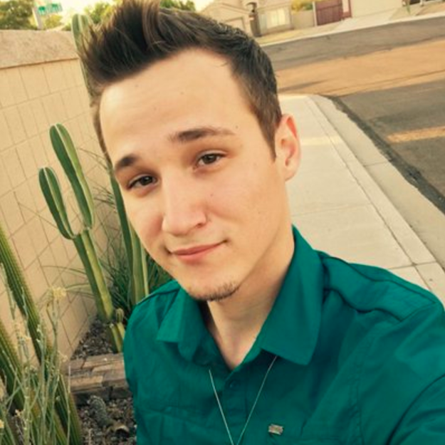 """This is Twitter user Sassy Gay Republican, a 21-year-old pizza delivery driver and Donald Trump supporter from Arizona. He says his Twitter account exists """"because #Democrats & the #LGBT community fail to recognize a large number of gay conservatives."""""""