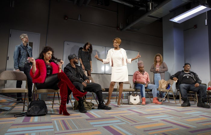 The cast of MCC's Charm at the Lucille Lortel Theatre.