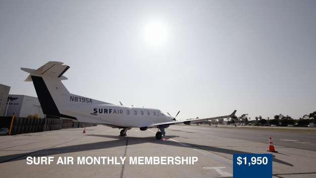Up next, was a private flying experience with Surf Air at a price of $1,950. With this membership, flyers can travel all along the west coast at a fixed monthly rate. Talk about a good deal!