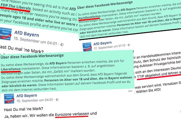 Fans von Merkel, FDP oder NachDenkSeiten - So sieht der Wahlkampf der AfD auf Facebook aus