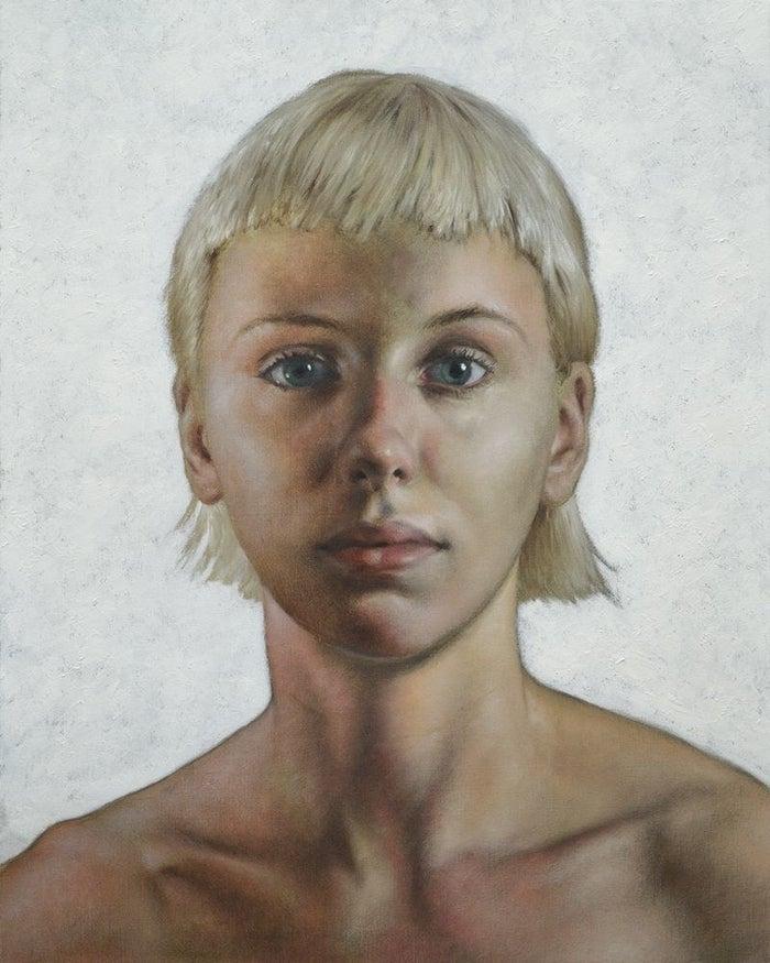 Large Portrait of Manou   oil on canvas   30x24   2017