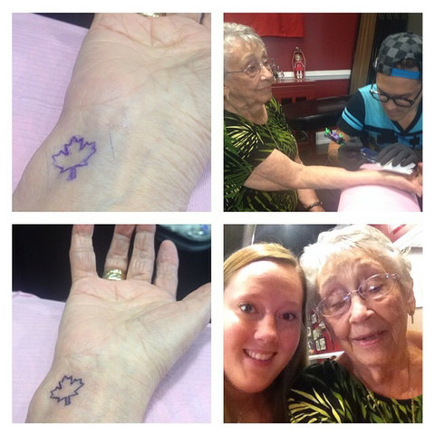 The family does special things for Grams' birthdays. To commemorate her 95th birthday, Gladys and her granddaughter were inked with matching tattoos. There has also been a family discussion of skydiving when Gladys turns 100.