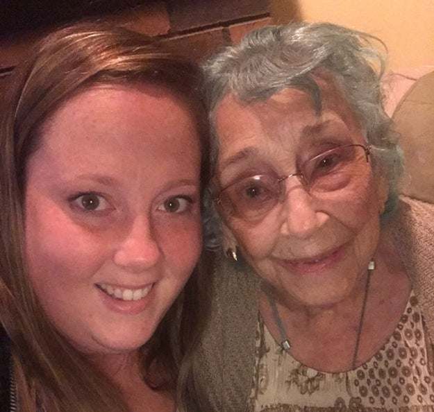 "This is Shannon Weikle, a 29-year-old from Maryland, and her grandmother, Gladys or, as Shannon calls her, ""Grams."" Grams turns 98 on Tuesday."