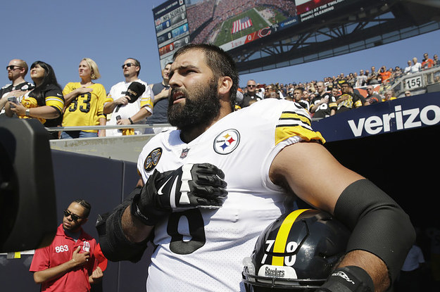 People Are Applauding This NFL Player Who Was The Only One On His Team To Come Out For The National Anthem