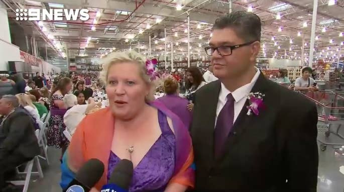 """""""The initial idea of the wedding was meant as a bit of joke,"""" she said. """"I've got a big family and so does he, and I wondered how we were going to do it. Then I thought I should get married at Costco because I'm there all the time – so it just made sense."""""""