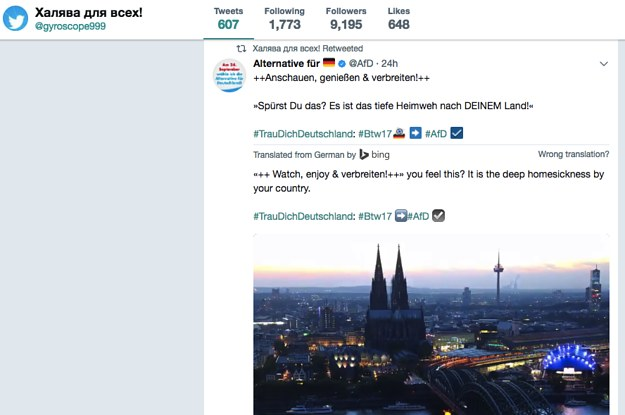 buzzfeed.com - These Russian Hackers Say They're Using Twitter Bots To Help Germany's Far Right Party In The Election
