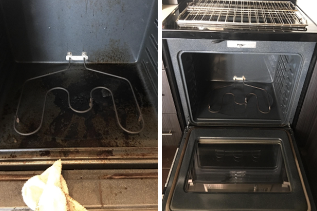 """Spray this cleaner inside your oven and it'll eat away grease in grime in under ten minutes. Sounds like magic! Promising Review: """"I was skeptical about this product because my oven is nearly 40 years old and I'm not sure if it had ever been cleaned. We followed the directions and let this spray soak in for eight hours. This product worked so well it looks like we have a brand new oven. I have never seen it so clean. I would highly recommend this cleaner to anyone with a filthy oven — wow."""" —Mike Get it from Amazon for $5.97."""
