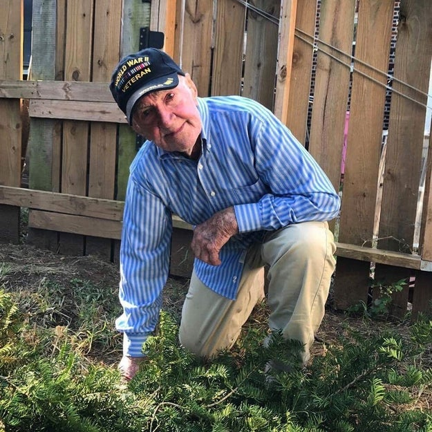Grandpa John felt it was important to speak out about how it's the values of our country, not the symbols, that are important to protect. So, he took a knee in solidarity.