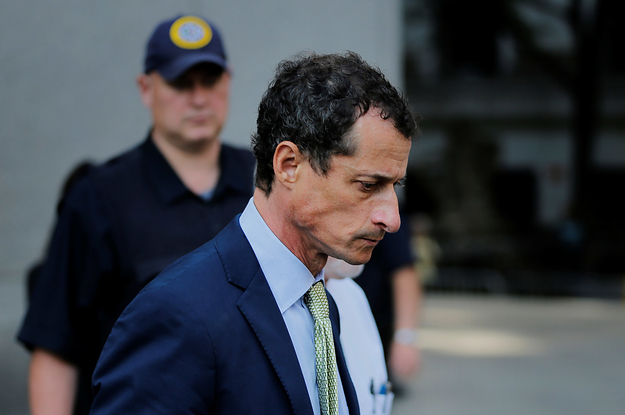 Anthony Weiner Has Been Sentenced To 21 Months In Prison For Sexting With An Underage Girl