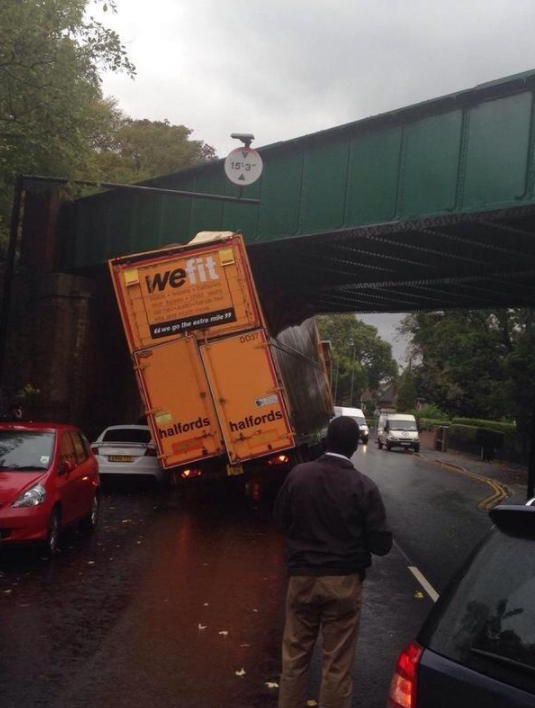 Ironically, this truck driver: