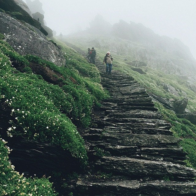 Stretch your pins walking up the 618 stone steps to the monastery atop Skellig Michael. The site is so otherworldly that it's been used as a filming location in Star Wars: The Force Awakens and the upcoming Star Wars: The Last Jedi.