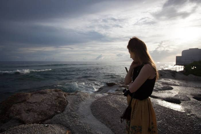 Kim Wall in Majuro, the capital of the Marshall Islands, where she reported on climate change and the lasting effects of nuclear testing.