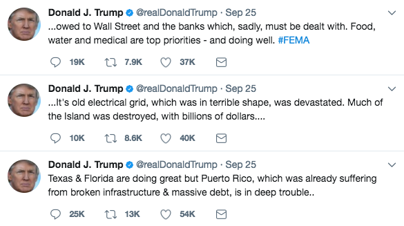 Trump also regularly uses Twitter to reveal his geo-political priorities, often times with controversial results.