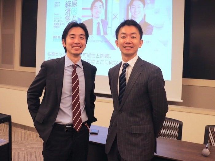 (写真右)株式会社ミナケア代表で医師の山本氏。(写真左)カリフォルニア大学ロサンゼルス校(UCLA)助教で医療政策学者の津川氏。