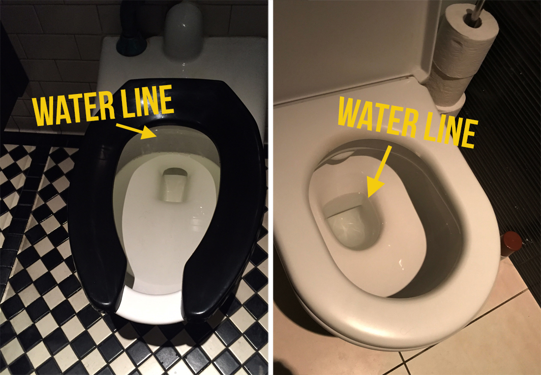 Confused hookup a man in his 40s sitting on the toilet