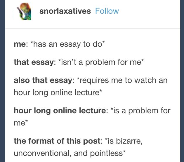 Essay maker tumblr
