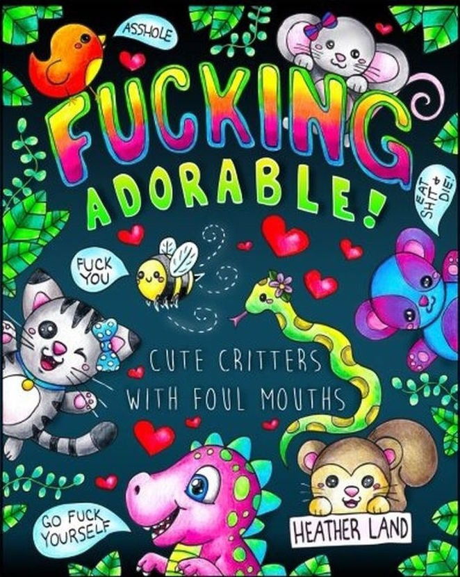 """Promising Review: """"I've gotten a few of these adult coloring books for myself and this is my favorite one so far. The cute critters and (sometimes really) nasty words are the perfect combination of nice and naughty, and so much fun to color. I realize that some people will probably be offended by things like this, and they would be wise to look elsewhere. For the rest of us, this is comedy gold. These adult coloring books, along with a pack of glitter gel pens, make a great inexpensive gift for like-minded individuals."""" —PSGet it from Amazon for $5."""