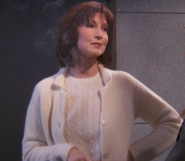 Rachel's Ralph Lauren co-worker's chunky knit cardigan.