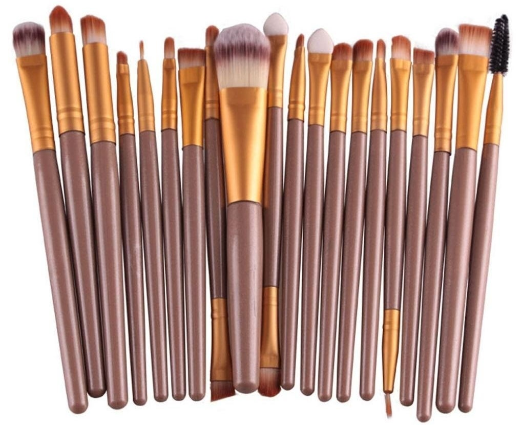 """Promising Review: """"Given the very reasonable price, and having used MAC brushes for years, I wasn't expecting much. Boy, was I wrong!! These are very soft brushes, making them perfect for blending eyeshadows, blush, and contouring. These are some really great brushes and an excellent buy!"""" —Kristi SchonebaumGet the 20-piece set from Amazon for $8+."""