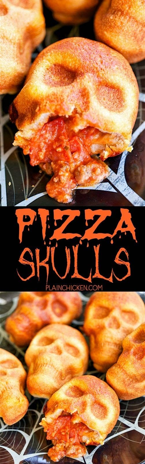These incredible looking pizza skulls from Plain Chicken have been saved 50,000 times.