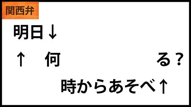 関西 弁 イントネーション