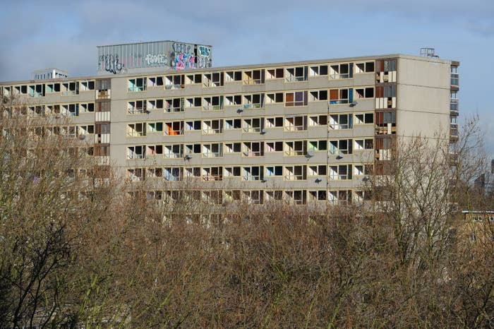 The Heygate estate, Elephant and Castle, south London, which has been demolished.