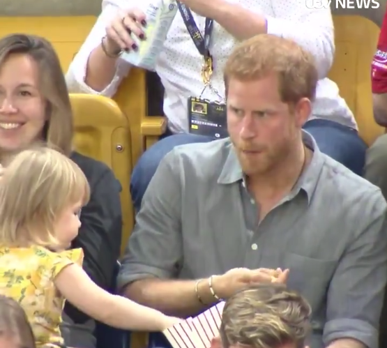 This Little Girl Stole Prince Harry's Popcorn And His