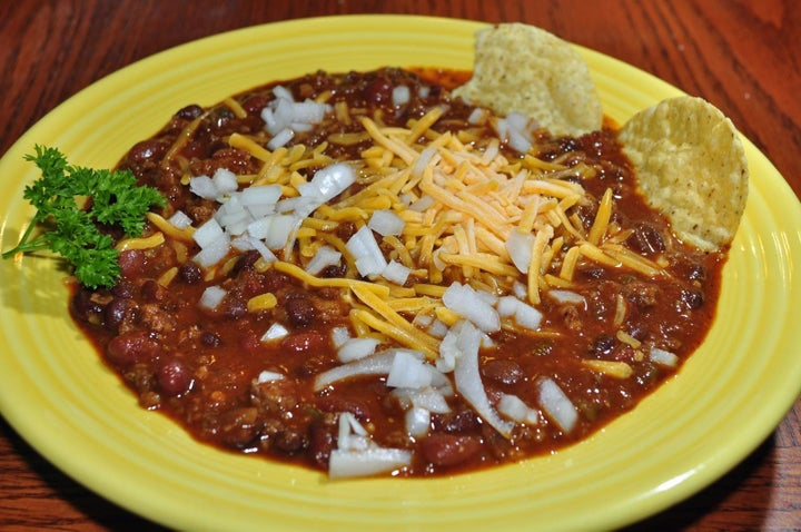 OK, so I'm sure you know about chili. It looks like this and it's delicious as hell. If you don't know about it, stop reading here and come back after you've tried some.