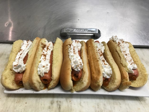We'll start slow...I give you pumpkin spice hot dogs: