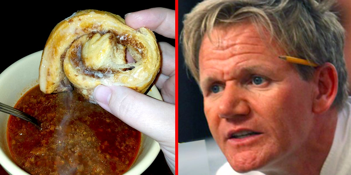 I Just Found Out That Mixing Chili And Cinnamon Rolls Is A Thing And I'm Confused