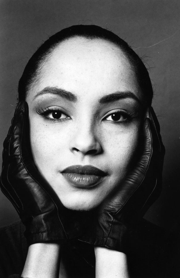 Full lips and brows? God took her time with Sade.