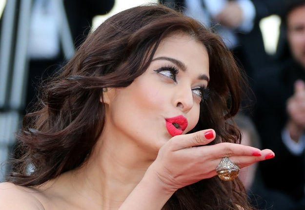 Aishwarya Rai, Miss World '94, actress, and Queen of the blow-a-kiss pose.