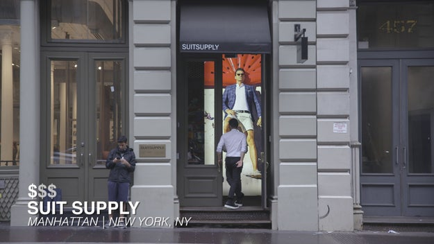 Our first location was SuitSupply in Manhattan to try on tailored suits at the lowest price point of $399.