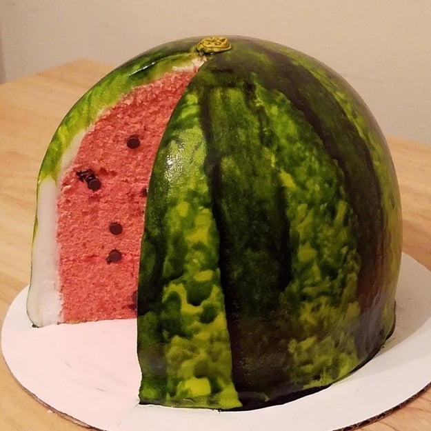 This delicious and deceptive watermelon cake.
