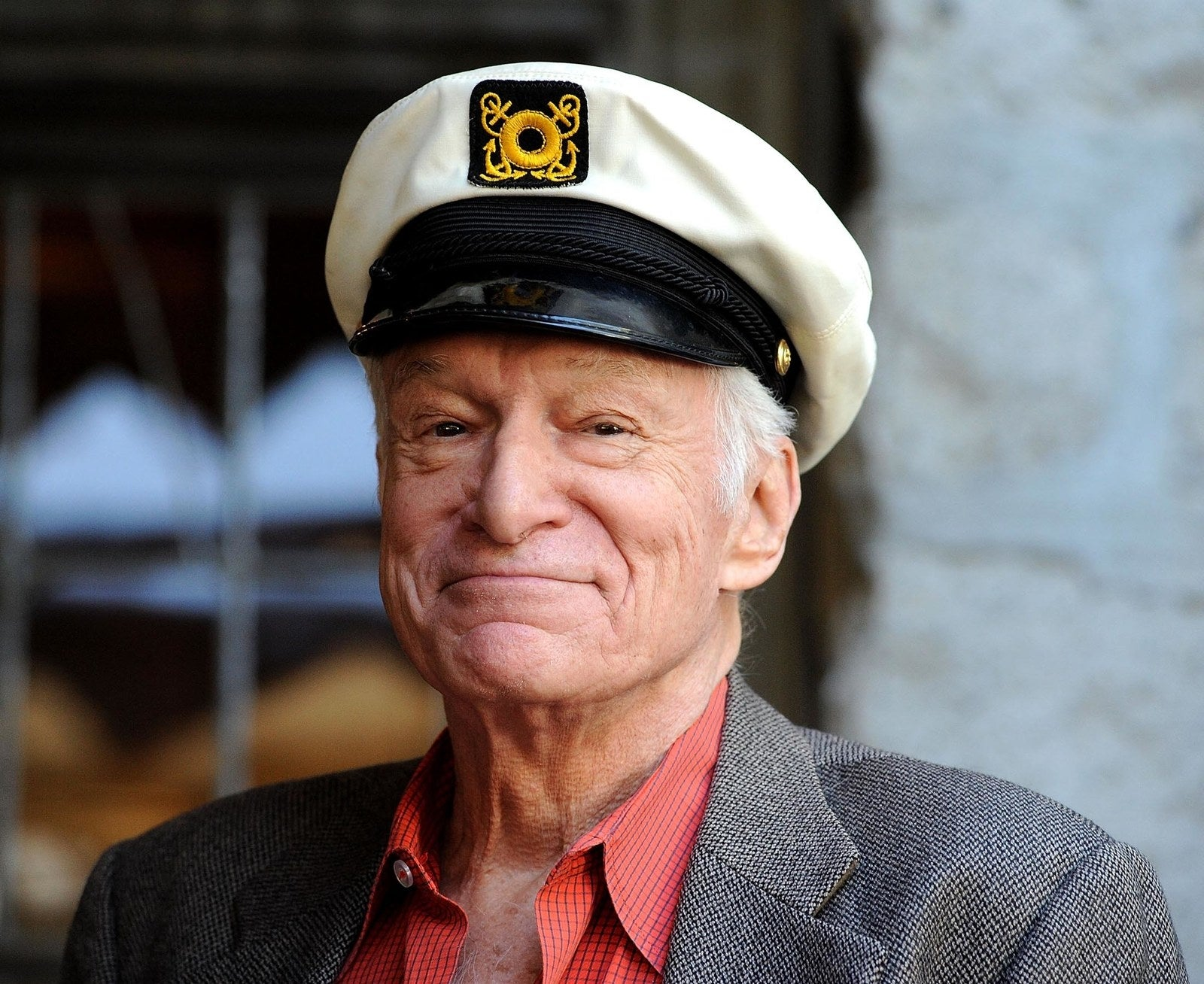 Hefner arrives at the 2011 Playboy Jazz Festival at the Playboy Mansion on Feb. 10, 2011, in Beverly Hills.