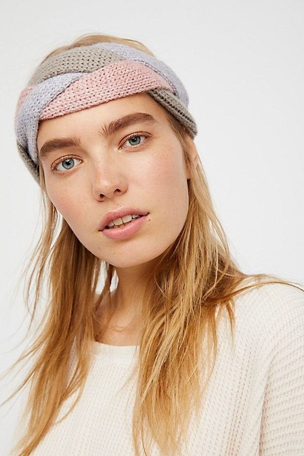 Though I'm new to a personal uniform, I have worn my hair the same way for years: down and with a headband. A muted headpiece feels like it tones down the redder aspects of my freckly, uneven skin. Plus, less hair-washing.Get it from Free People for $38.