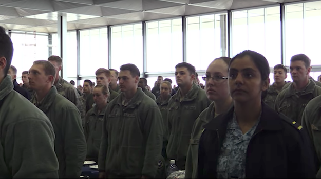 """""""If you can't treat someone from another race or a different color skin with dignity and respect, then you need to get out,"""" Silveria said, addressing nearly 5,500 people in the room, including cadets, faculty, and candidate cadets."""