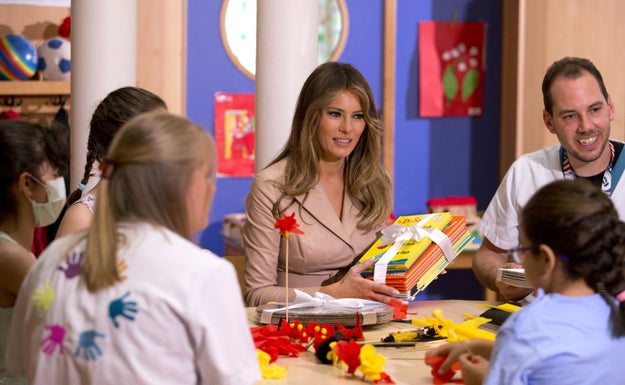 """Melania Trump's office is accusing a Cambridge school librarian of being """"divisive"""" for rejecting the first lady's donation of 10 Dr. Seuss books for National Read a Book Day."""