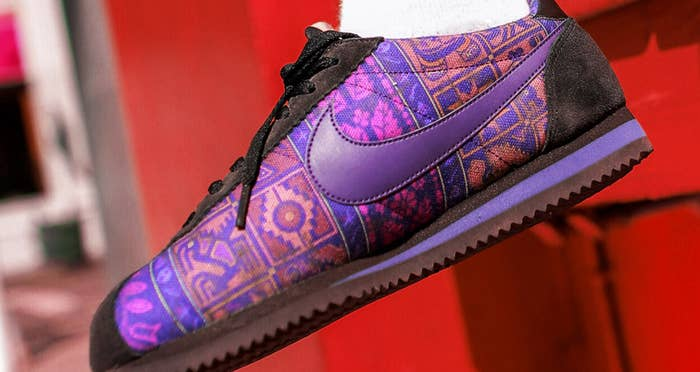 the latest e7910 fa69a Chilean artist INTI took symbols from throughout Latin culture to create a  gorgeous, colorful, singular design printed onto the classic Cortez sneaker.