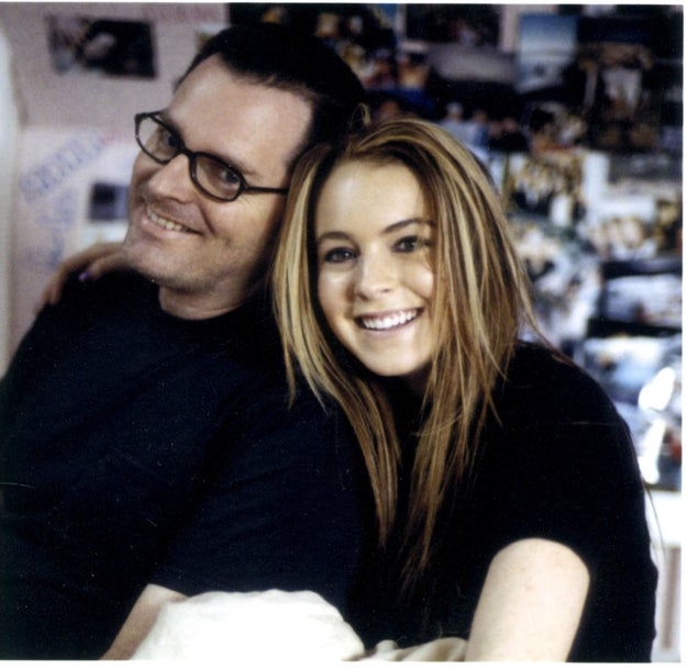 Look at young Lindsay on the set of Freaky Friday. I wonder how many fortune cookies she ate.