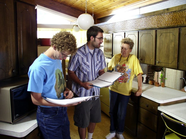 Just look at baby Jon Heder in the Napoleon Dynamite kitchen!!